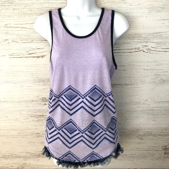 Urban Outfitters Tops - URBAN OUTFITTERS BDG Diamond Print Ringer Tank